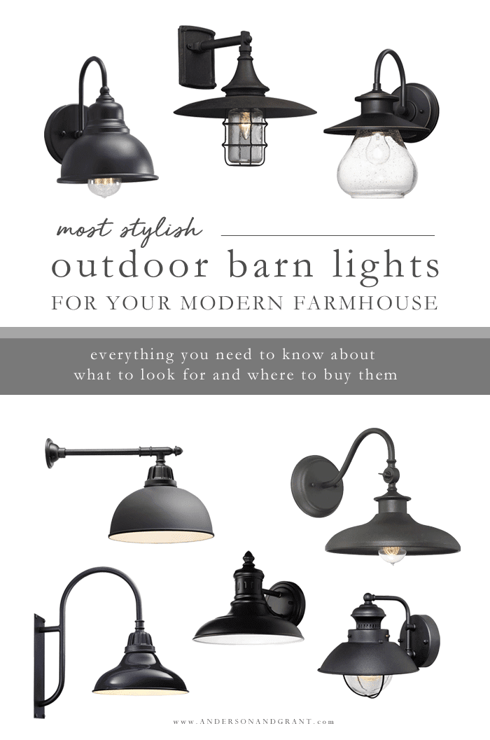 Stylish outdoor barn lights