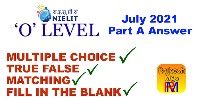O Level M1-R5 July Part A All Answers