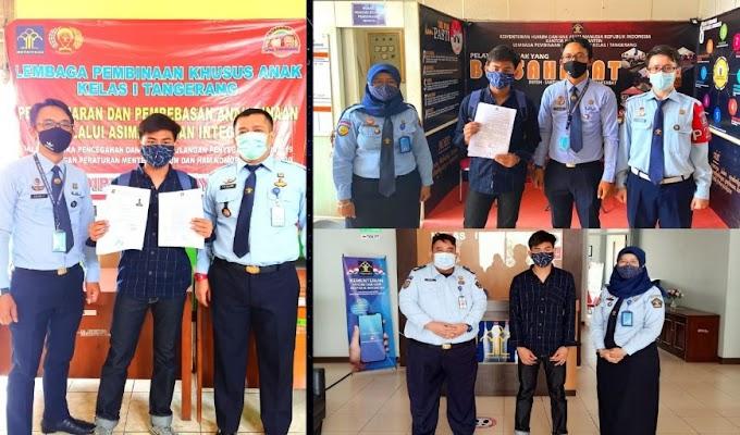 Salah Satu Binaan LPKA Kelas I Tangerang dapat Asimilasi, Kepala LPKA: Jaga Amanah dengan Baik