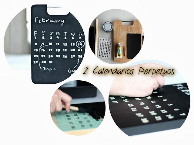 calendarios perpetuos, diys, manualidades, calendarios