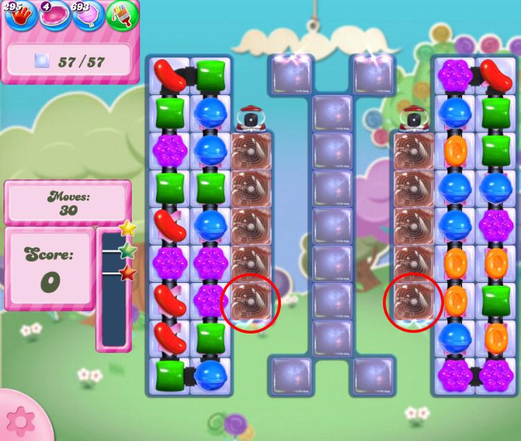 Candy Crush Saga level 2822