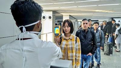 Coronavirus screening centre at an airport