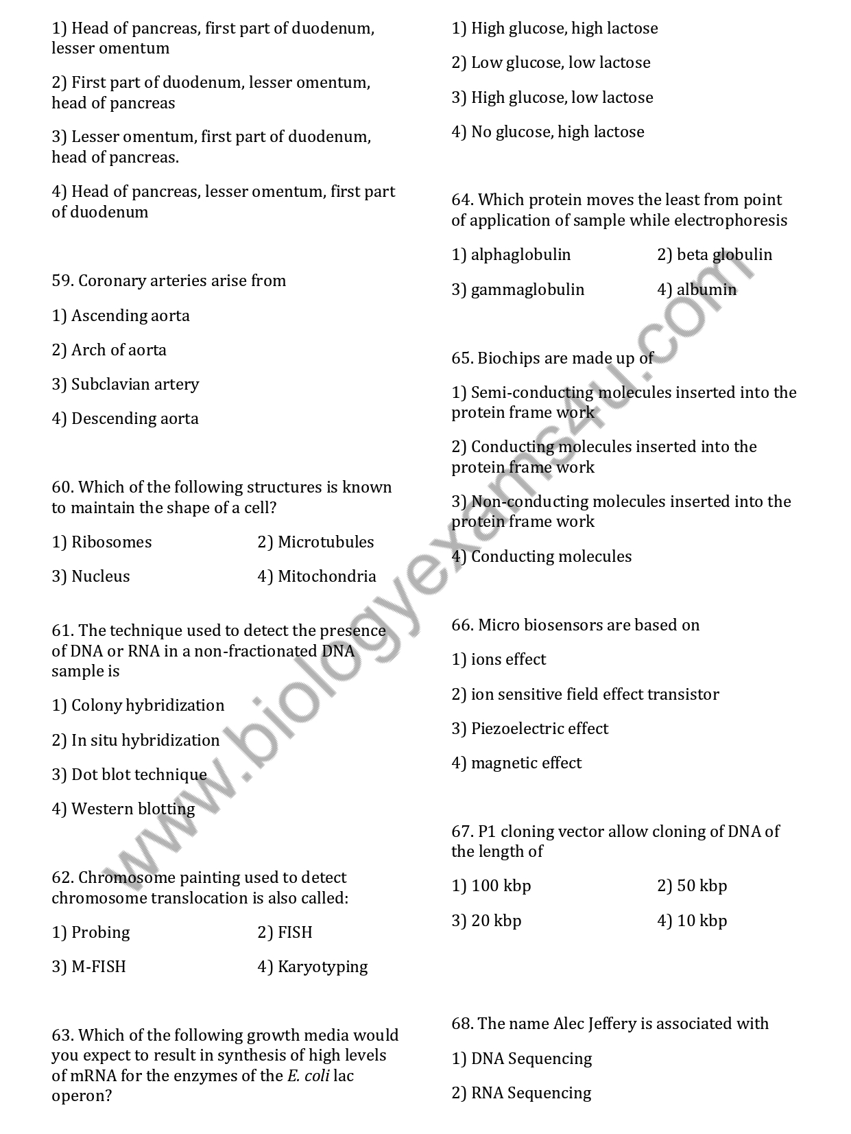ICMR JRF Life Science 2019 Question Paper