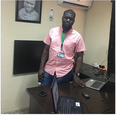 Makinde Azeez The Owner Of Naijaloaded Flaunts His New Office With His Two Expensive Laptops
