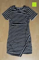 Erfahrungsbericht: AIYUE Frauen Monochrom Streifen mit kurzen Hülsen Etuikleid Figurbetontes Kleid Partykleid Clubwear