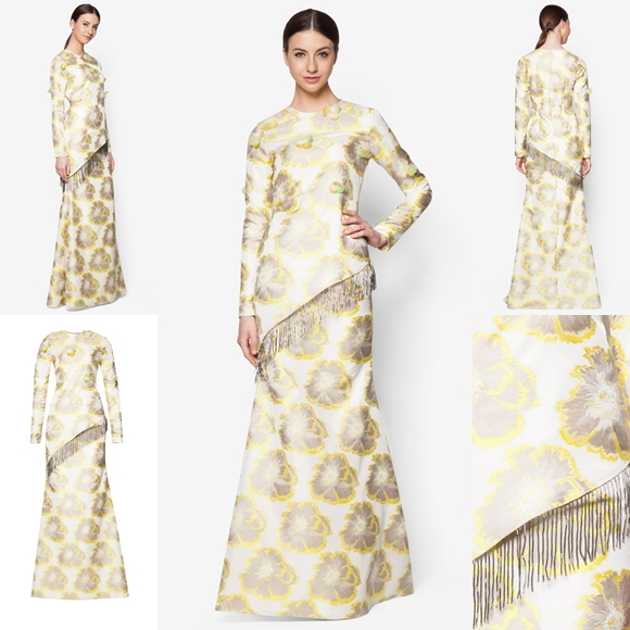 Fesyen Trend Terkini Bianco Mimosa Auratius Baju Kurung Moden Baju Raya 2017