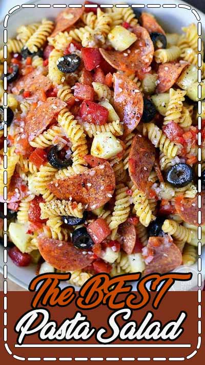Description The BEST Pasta Salad is a family recipe for pasta salad that's easily made into gluten-free pasta salad. It's the only party, holiday, and cookout side dish recipe you'll need!