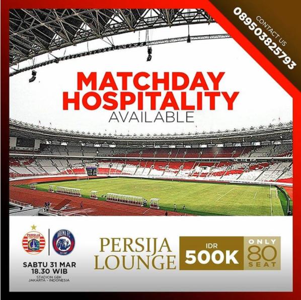 Buruan !! Dapatkan Tiket Murah Persija Jakarta hanya 500 ribu..