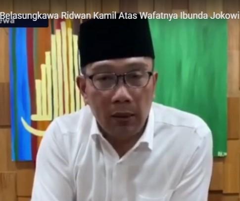 Gubernur Jabar Mengucapkan Turut Belasungkawa Atas Wafatnya Ibunda Presiden RI Jokowi