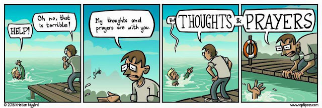 Thoughts and prayers cartoon picture