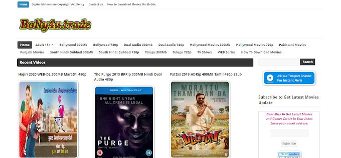 Bolly4u 2020 – New HD Bollywood, Hollywood, South India Movie Download