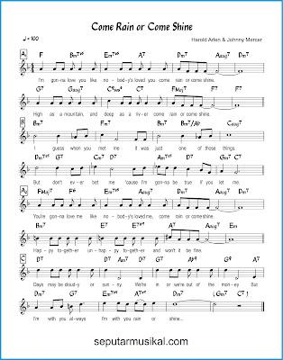 Come Rain or Come Shine chords jazz standar