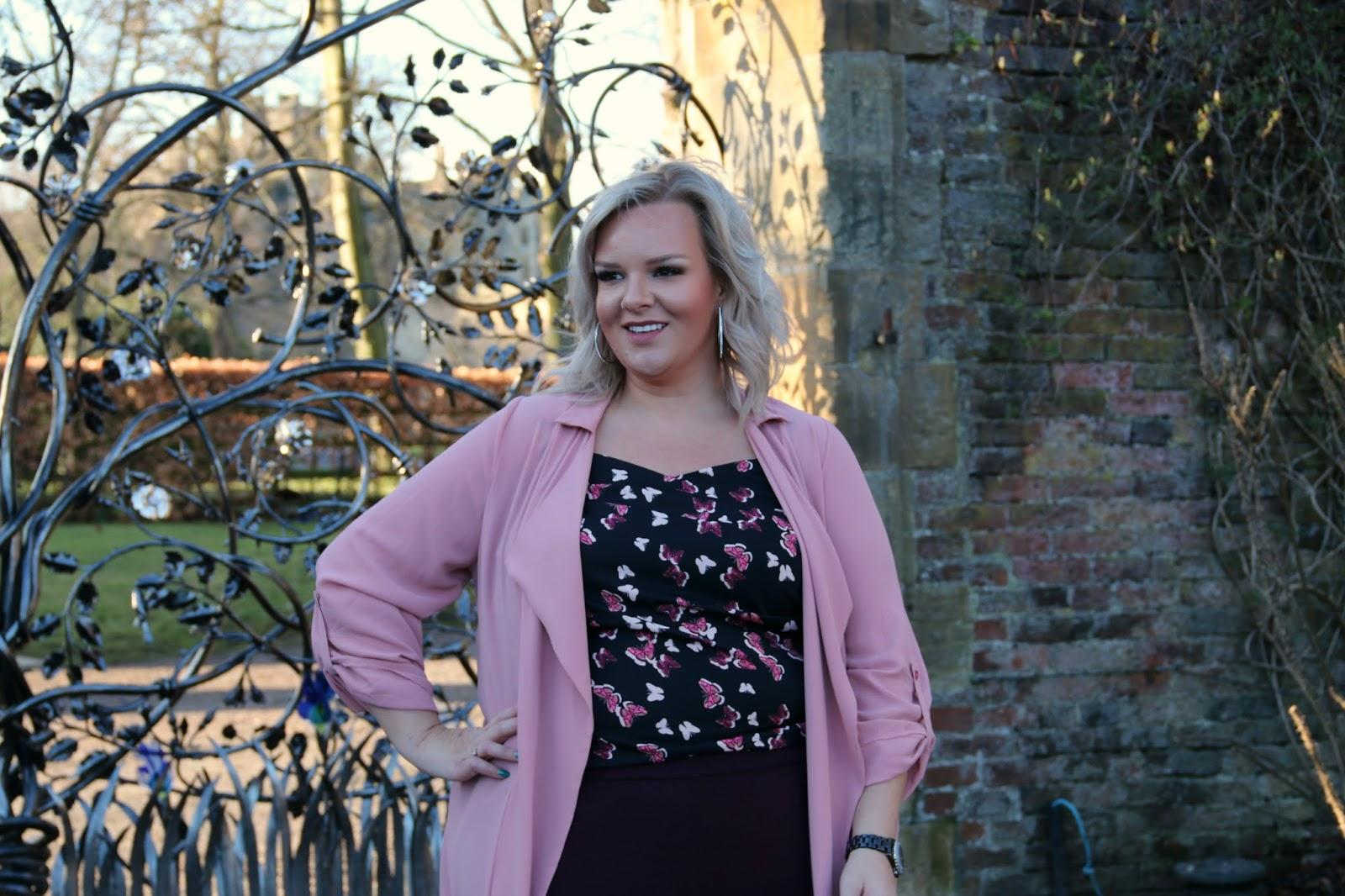 Goal setting and plus size spring fashion by whatlauraloves