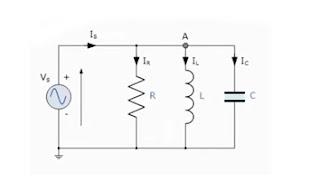 التوصيل على التوازي (RLC) في دوائر التيار المتردد