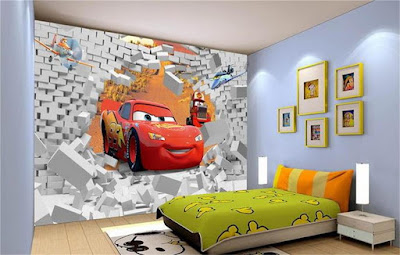 +40 3D wallpaper design ideas for children room 2019