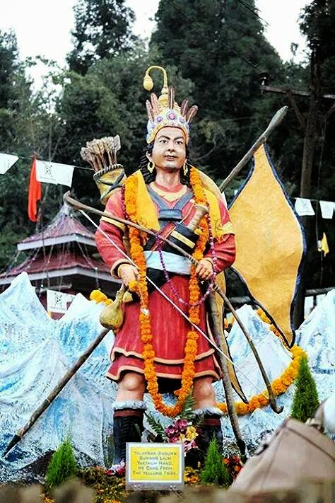 First statue of Yalambar of Kirati community laid down in Mirik