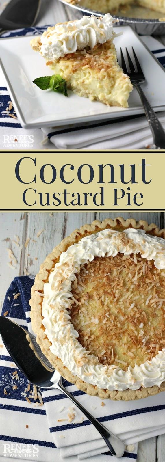 Coconut custard pie renee 39 s kitchen adventures for Renee s kitchen