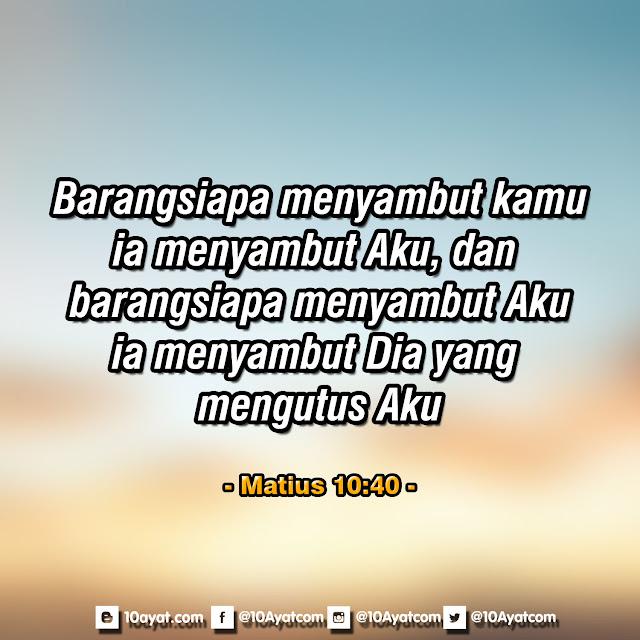 Matius 10:40