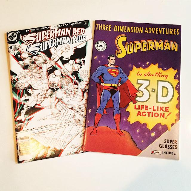 Superman Red Superman Blue Superman 3D comic