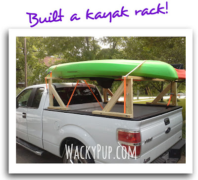 step by step pictures & info on how I built my kayak rack