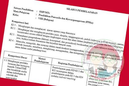 Silabus PKN SMP Kelas 8 Kurikulum 2013 Revisi Terbaru
