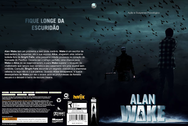 Capa Alan Wake Xbox 360
