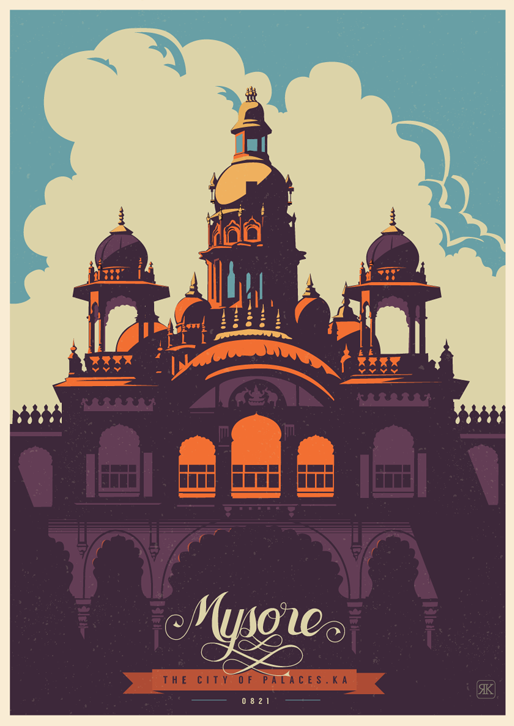 Mysore - City of Palaces Travel Poster