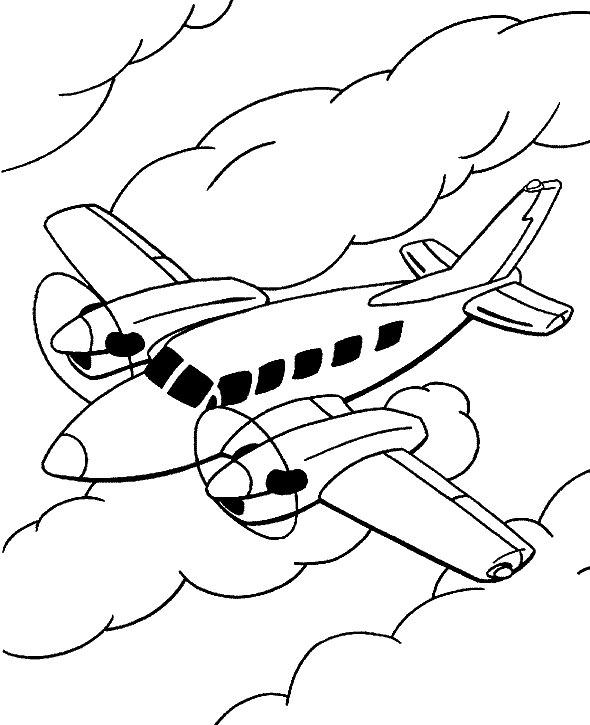 10 Desenhos De Avioes Para Colorir Atividades Pedagogicas