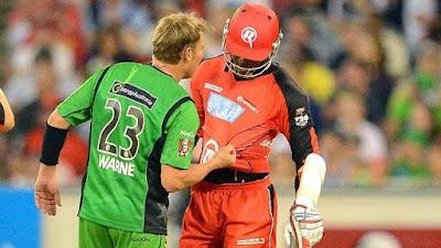 Shane Warne Marlon Samuels Cricket Fight