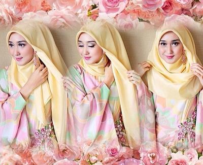cara memakai jilbab untuk wajah bulat dan hidung pesek