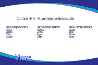 Pengertian Dan Contoh Kata Dasar Dalam Bahasa Indonesia