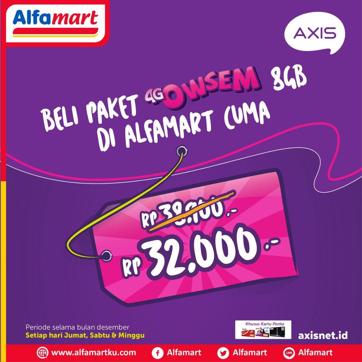 Alfamart - Promo Paket 4G Owsem 8G Cuma 32 Ribu Tiap Weekend (s.d 31 Des 2018)