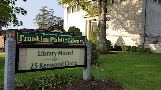 Franklin Public Library operates from its temporary location at 25 Kenwood Circle