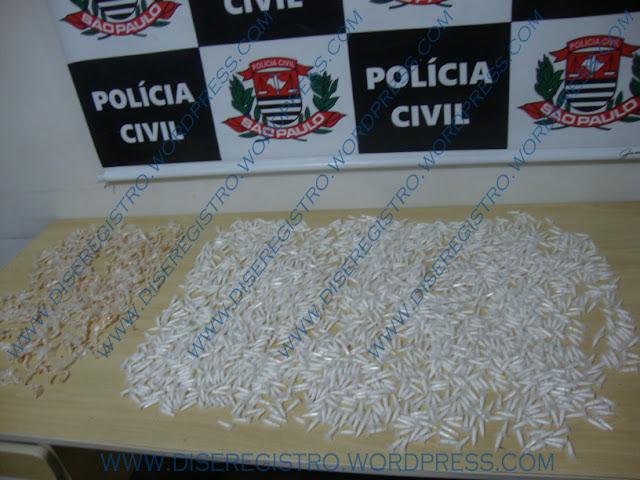 Dise apreende 2000 porções de Cocaína e 800 de Crack no bairro Vila Nova em Registro-sp