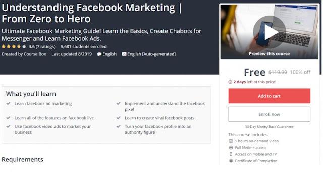 [100% Off] Understanding Facebook Marketing | From Zero to Hero| Worth 19,99$