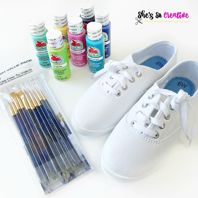 DIY Yarn Ball Shoes craft supplies