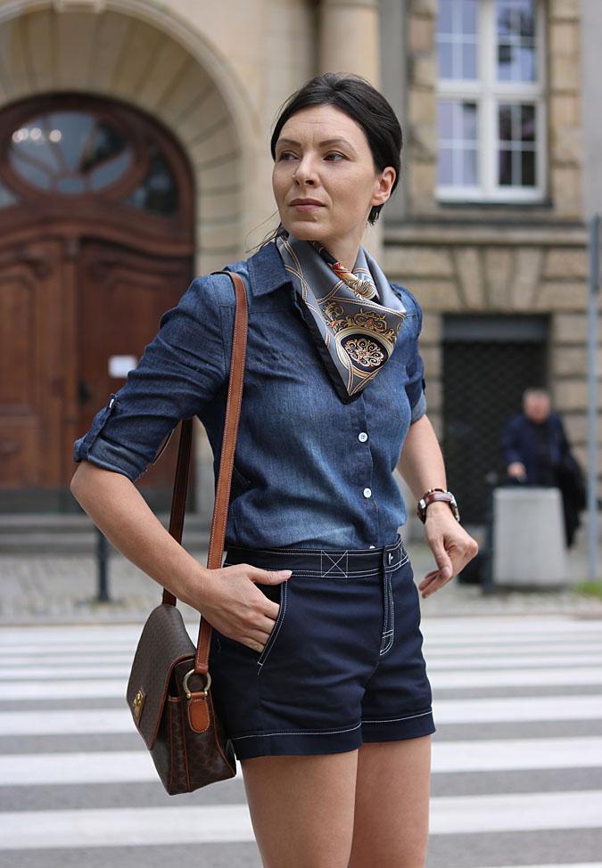 eleganckie jeansowe szorty
