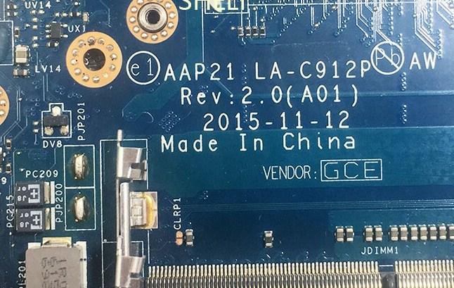 LA-C912P Rev2.0(A01) AAP21 Dell Alienware 17 R3 Bios
