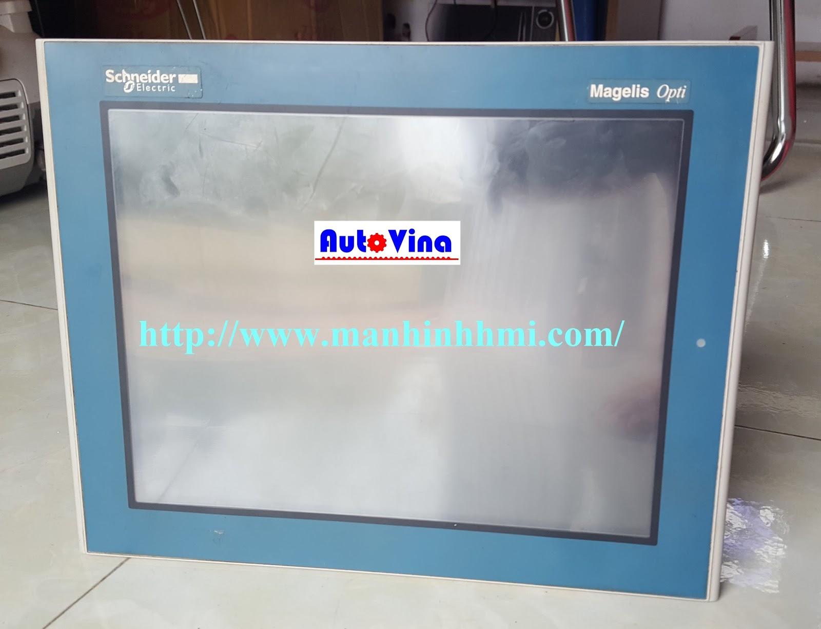 Màn hình cảm ứng HMI Schneider XBTOT5320 được Auto Vina sửa chữa, thay thế LCD, tấm kính cảm ứng