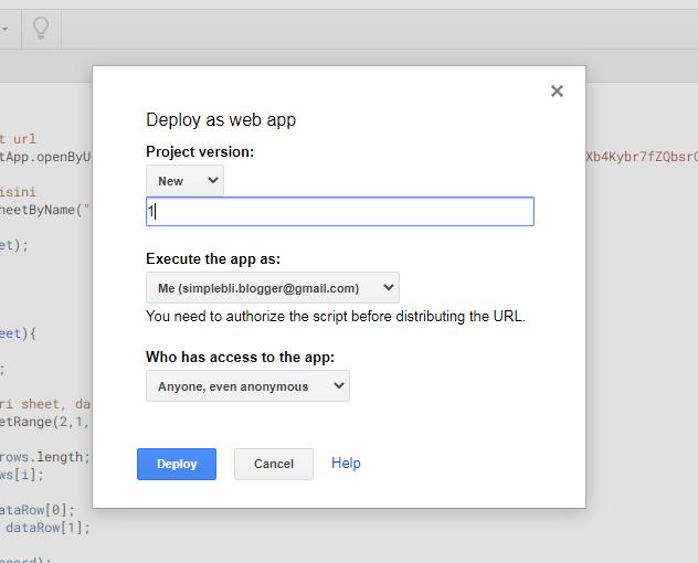 Cara Membuat Lisensi Template Blogger dengan Google Sheet
