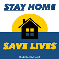 Stay home, save lives logo