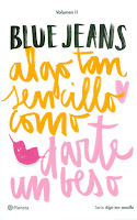 """Portada del libro """"Algo tan sencillo como darte un beso"""", de Blue Jeans"""
