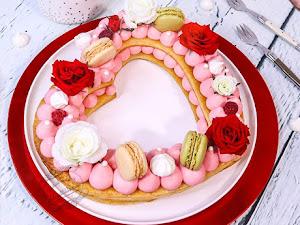 Heart cake framboise et rose pour la Saint Valentin