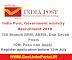 Indian Potal Department Recruitment 2019 –  Govt Jobs for 750+ Gramin Dak Sevak Posts - Apply Online Before 19th July 2019