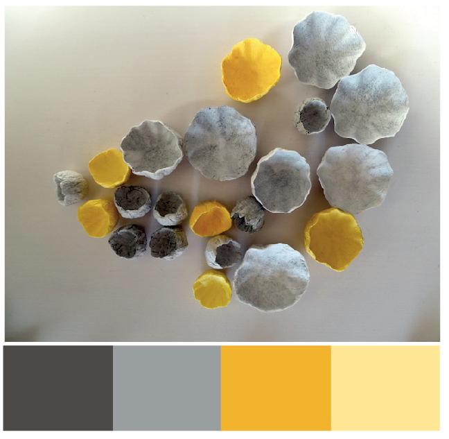 matrimonio  2018 palette colori : grigio e giallo di Alessandra Fabre Repetto Roma