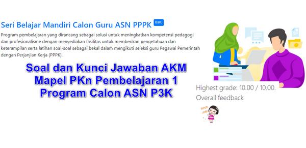 Soal dan Kunci Jawaban AKM  Mapel PKn Pembelajaran 1  Program Calon ASN P3K