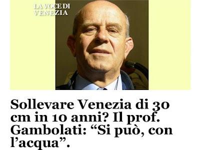 Il prof Gambolati su ''La Voce di Venezia''