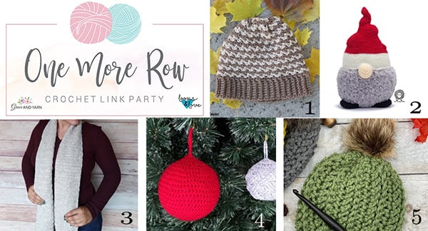 One More Row - Free Crochet Link Party #25