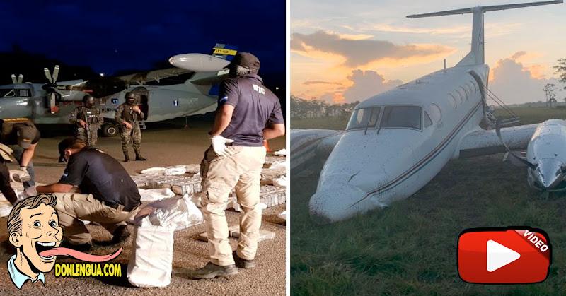 Avioneta repleta de Droga de Venezuela fue interceptada en Honduras