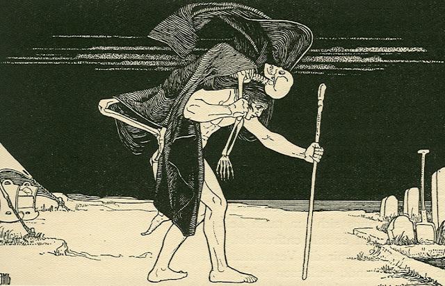 Dybbuk, by Ephraim Moshe Lilien (1874–1925).